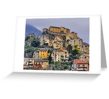 Corsica - Corte by a winter morning Greeting Card