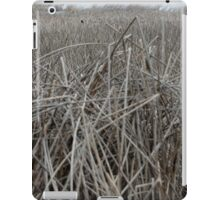 crow in the reeds. iPad Case/Skin