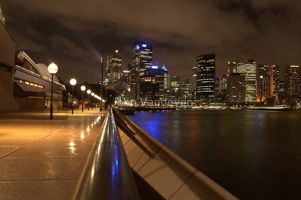 Sydney at night by John Vandeven