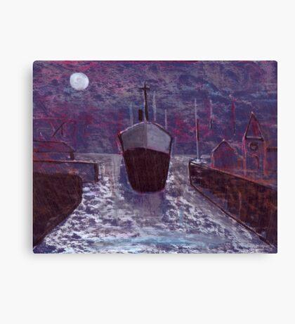 Entering the docks Canvas Print