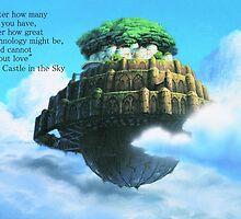 Laputa Castle in the Sky by Deathrosen