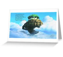 Laputa Castle in the Sky Greeting Card
