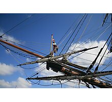 ship rigging Photographic Print