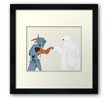 Baymax and Chappie Framed Print