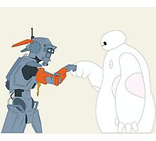 Baymax and Chappie Photographic Print