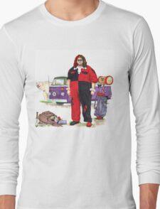 Hurley Quinn Lost/Batman Mashup Long Sleeve T-Shirt