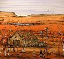 """Outback Life Australia""    Australian; won the Peoples Choice award in the Exhibition. SOLD by EJCairns"