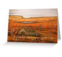 """""""Outback Life Australia""""    Australian; won the Peoples Choice award in the Exhibition. SOLD Greeting Card"""