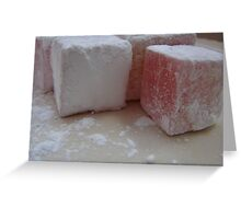 Turkish Delight AKA Lokum Greeting Card