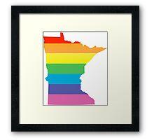 rainbow minnesota Framed Print