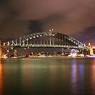 Sydney at night 2 by John Vandeven