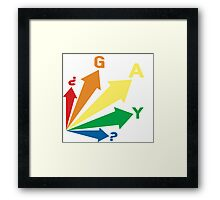 all signs point to... GAY? Framed Print