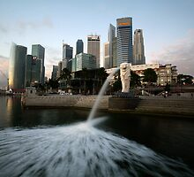 singapore waterfront by nastrome