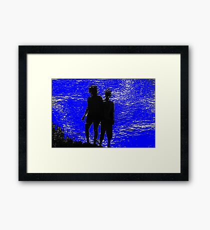 two girls Framed Print