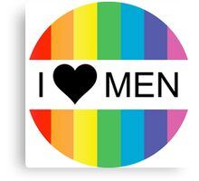 i heart men Canvas Print