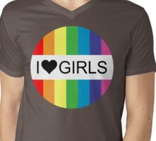 i heart girls Mens V-Neck T-Shirt