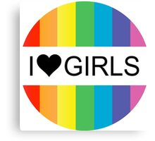 i heart girls Canvas Print