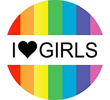 i heart girls Photographic Print
