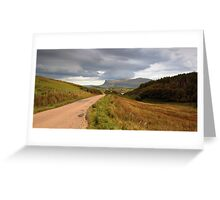 The road  to Ardmeanach Greeting Card