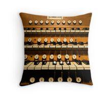 Church Organ Consule Throw Pillow