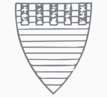 A Complete Guide to Heraldry - Figure 120 — Arms of William de Valence, Earl of Pembroke (d 1296) Kids Tee