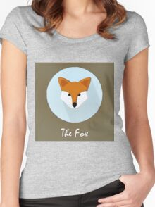 The Fox Cute Portrait Women's Fitted Scoop T-Shirt