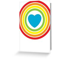 vintage rainbow heart Greeting Card