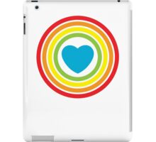 vintage rainbow heart iPad Case/Skin