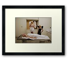 whos waiting for you Framed Print