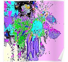 Spring Floral Abstract Poster