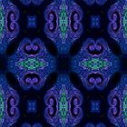 Blue Tapestry (portrait orientation) by Sandra Chung