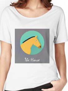 The Horse Cute Portrait Women's Relaxed Fit T-Shirt