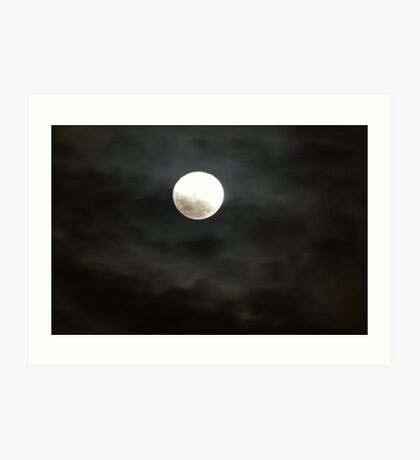 The moon was a ghostly galleon Art Print