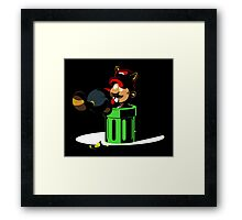 Raccoon Plumber IRL 2: Electric Boogaloo Framed Print