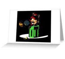 Raccoon Plumber IRL 2: Electric Boogaloo Greeting Card