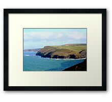 Coastal View In Cornwall Framed Print
