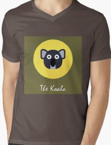 The Koala Cute Portrait Mens V-Neck T-Shirt