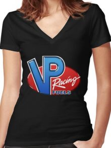 VP Racing Fuel Women's Fitted V-Neck T-Shirt