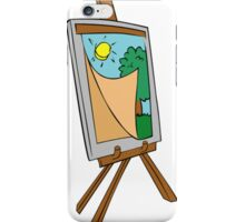 Cartoon Painting Easel iPhone Case/Skin