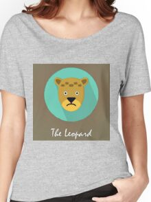 The Leopard Cute Portrait Women's Relaxed Fit T-Shirt