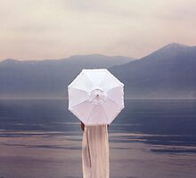white parasol by Joana Kruse