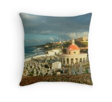 San Juan Cemetery  Throw Pillow