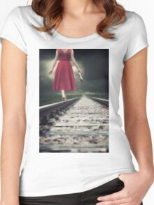 railway tracks Women's Fitted Scoop T-Shirt