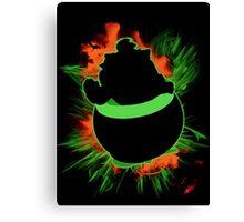 Super Smash Bros. Bowser Jr Silhouette Canvas Print