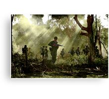 Vietnam - Jungle Patrol Canvas Print