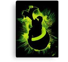 Super Smash Bros. Iggy Silhouette Canvas Print