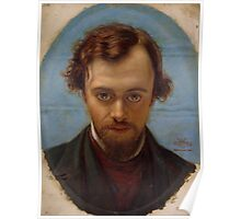 Portrait of Dante Gabriel Rossetti at 22 years of Age by William Holman Hunt Poster