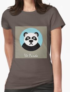 The Panda Cute Portrait Womens Fitted T-Shirt