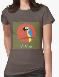 The Parrot Cute Portrait Womens Fitted T-Shirt