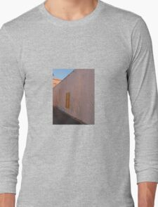 PINK WALL WITH YELLOW SHUTTERED WINDOW Long Sleeve T-Shirt